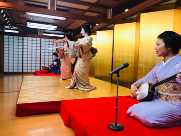 Geisha Entertainment Show and Multi-course Japanese Meal