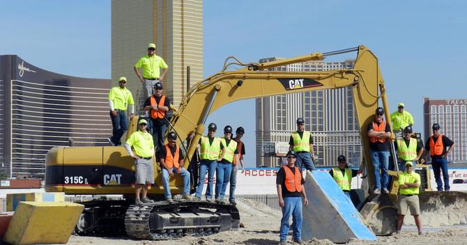Las Vegas Excavator Aggression Session