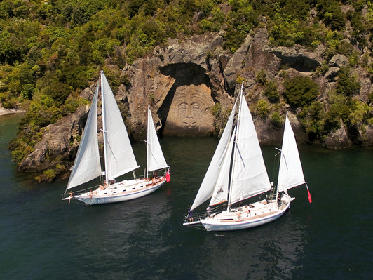 Sail Barbary Cruise to the Maori Rock Carvings
