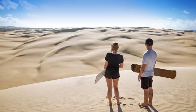 sandboarding australia travel