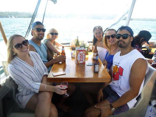 Sydney Harbour Beach Party drinks