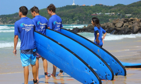 Lets Go Surfing Pass Plus - 3 Lessons - Byron Bay