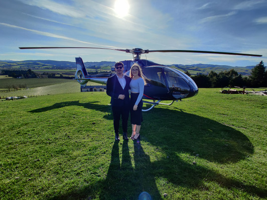 Helicopter scenic winery flight