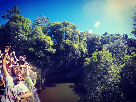 explore byron bay waterfall