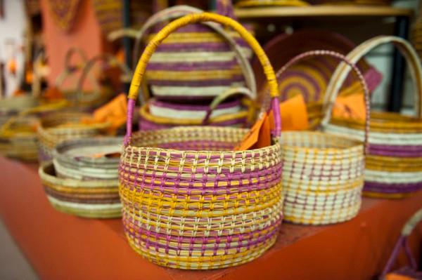 Arnhem Land and Kakadu five-day walking tour - woven basket for sale at Injalak.jpg