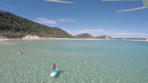 Double Island SUP Lesson - Rainbow Beach