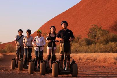 Quarter Uluru Segway & Sunset Tour