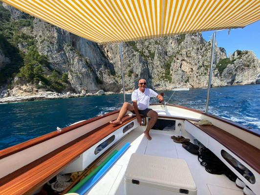 Boat day tour in Capri