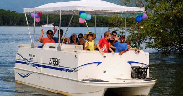 Pontoon boat hire cairns
