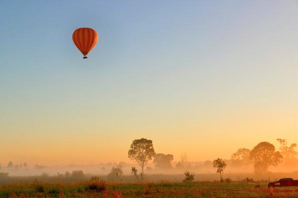 hot air balloon ride gold coast