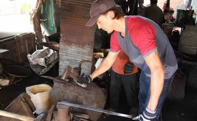 Cambodia knife making tour voucher