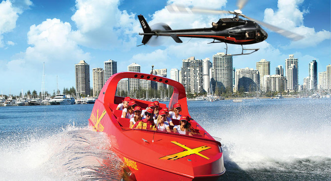 jet boat and helitour gold coast