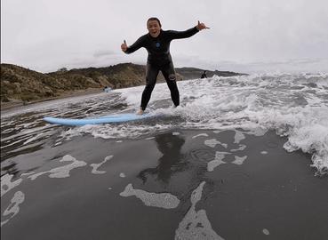 Group Surf Lesson Raglan Beach
