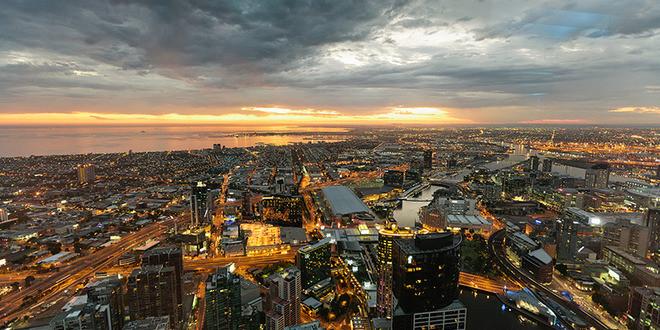 Eureka Skydeck Melbourne night view