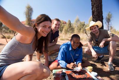 Dot Painting Workshop in Uluru