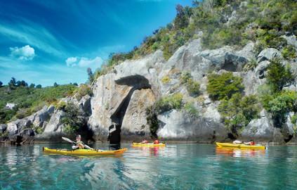 Maori Rock Carving Kayak Tour - Half Day