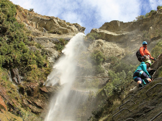 Canyoning Wanaka Waterfall Climb