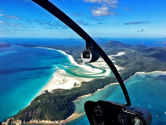 reef and whitehaven beach flight
