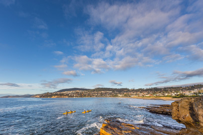 Full Day Cliffs, Caves & Beaches Kayaking Tour From Hobart