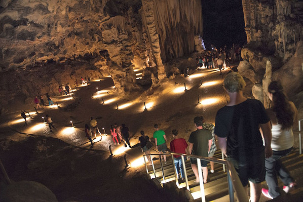 backpacker African Cave tour