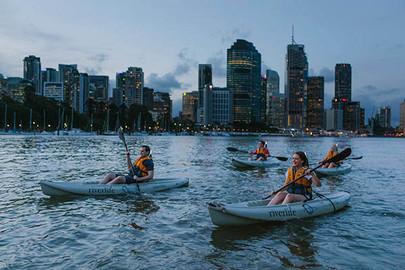 Brisbane City Twilight Kayak Adventure