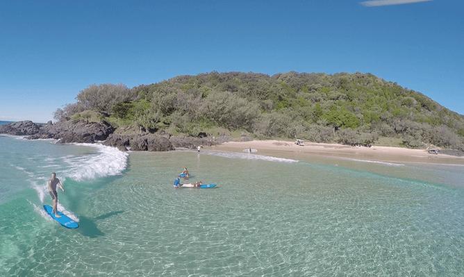 Rainbow Beach surf lessons tours