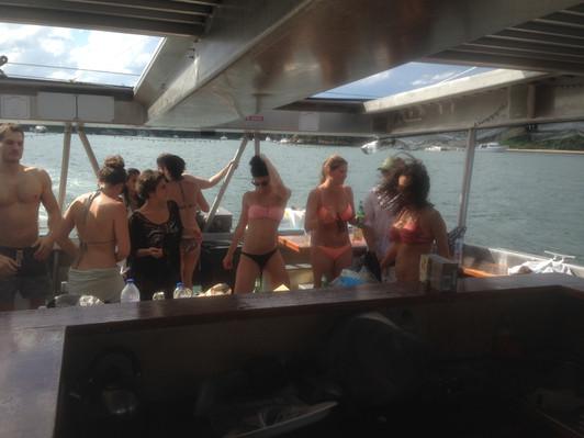 Sydney Harbour Beach Party food