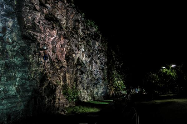 Brisbane Night Rock Climbing