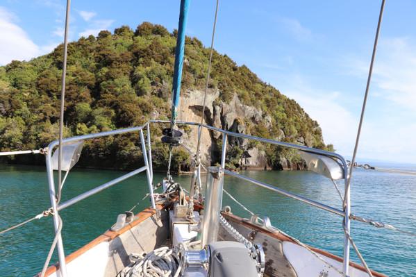 Lake Taupo Maori Rock Carvings Sailing
