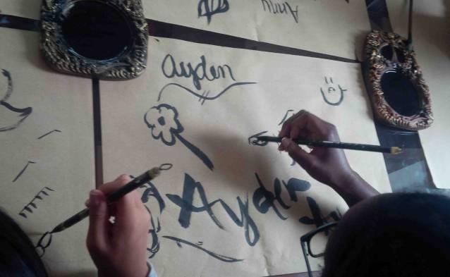calligraphy art class tours
