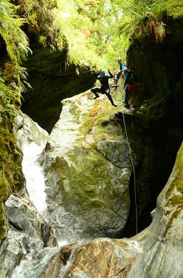 mount aspiring canyoning trip