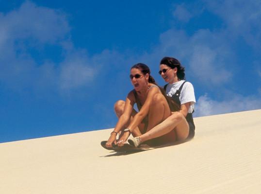 Moreton Island Sandboarding