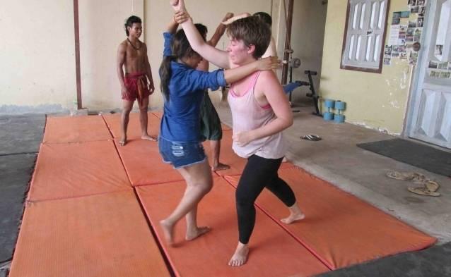 Cambodia martial arts class