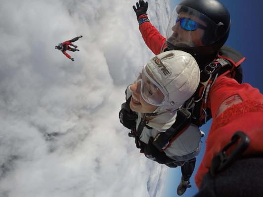 NZONE Skydive Queenstown - Cameraman Floating below.JPG