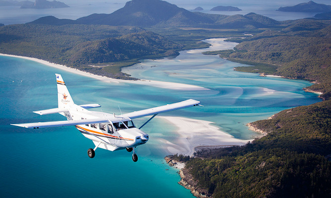 Whitsundays Heart Reef Scenic Flight from Airlie Beach