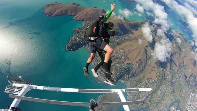Helicopter skydive deals