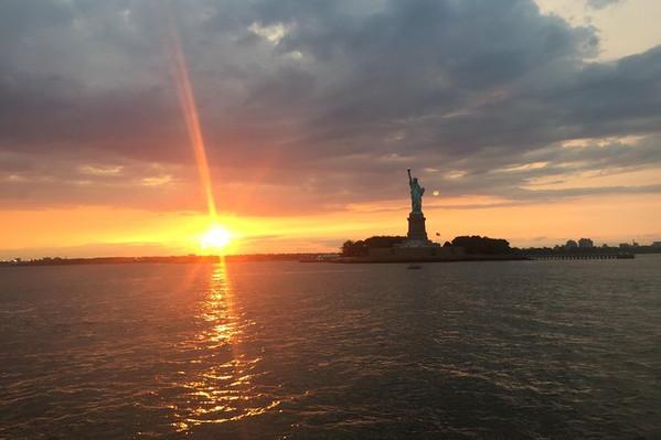 Statue of Liberty Cruise Sunset