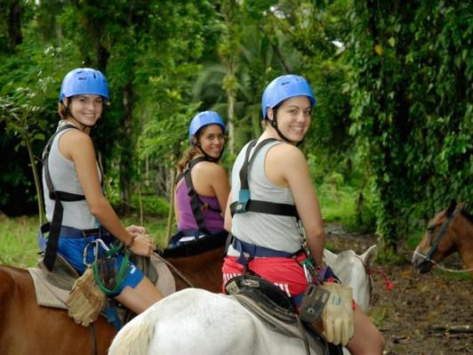 Horseback Riding & Boat in the Rainforest San Jose Tour