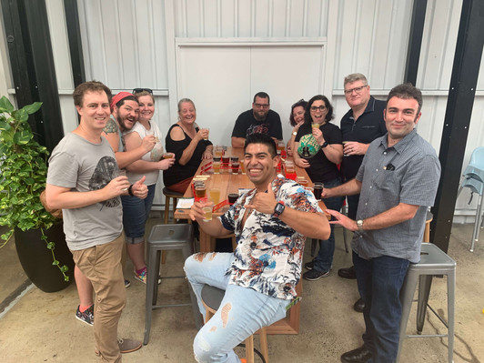 BRISBANE Mixed Group of Guests at Slipstream Brewing Co.JPG