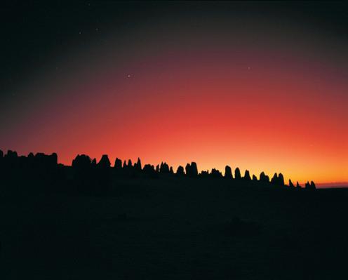 Startrails and Milky Way over The Pinnacles, Nambung National Park, Cervantes, Grahame Kelaher 110177.jpg