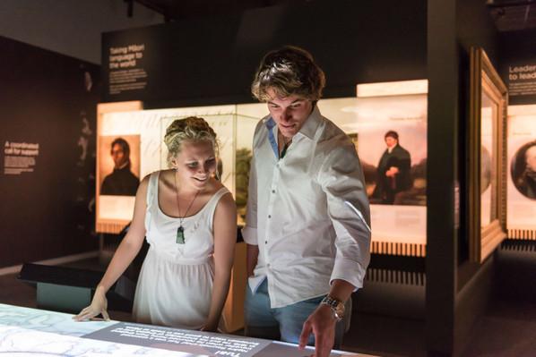 Museum interactive screen