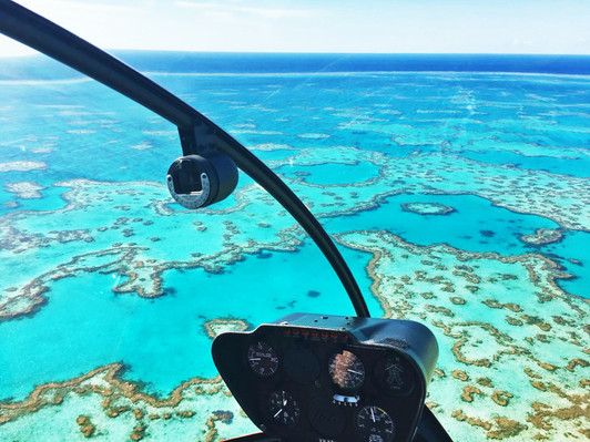 scenic flight reef and whitehaven beach
