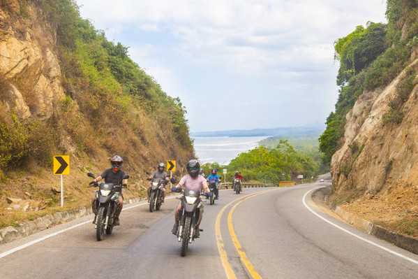 coastal motorcycle tour colombia
