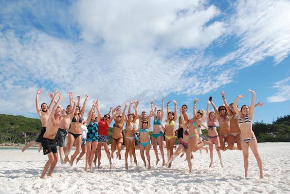 group beach tour australia