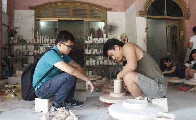 pottery making classe hanoi