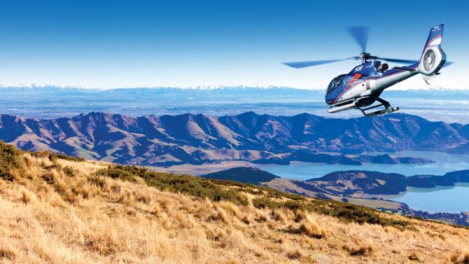 Scenic flight to Akaroa