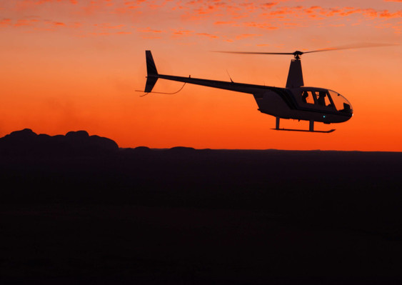 Sunset Helicopter flight