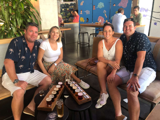 GOLD COAST Friends with beers at Burleigh Brewing