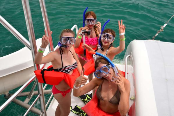 snorkel-catamaran
