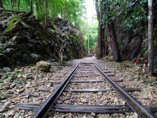 famous railway Kanchanaburi